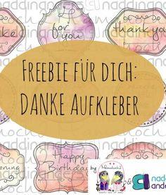 Freebie: DANKE und Glückwunsch Etiketten englisch & deutsch