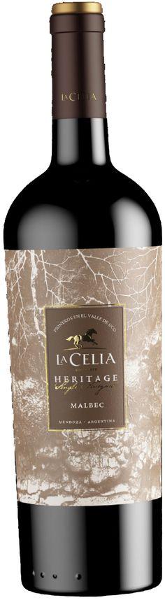 """""""Heritage Single Vineyard"""" Malbec 2012 - Bodega Finca La Celia, San Carlos, Mendoza---------------Terroir: Paraje Altamira (San Carlos)------------------Crianza: 12 meses en barricas de roble Francés de primer y segundo uso."""