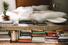 Urban Outfitters DIY Reclaimed wood Book bench - at the end of bed