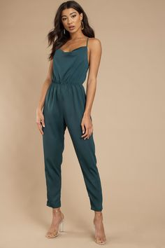 4fb87606992 Looking for the Live A Little Emerald Jumpsuit
