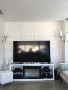 Create custom headboard or accent wall with leather panel Faux Leather Walls, Leather Wall Panels, 3d Wall Panels, Ceiling Panels, Ceiling Tiles, Tile Warehouse, Custom Headboard, Decorative Panels, Wall Murals