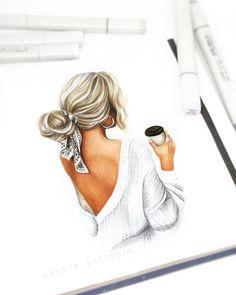 Girly Drawings, Colorful Drawings, Art Drawings, Mother Daughter Art, Fashion Mark, Megan Hess, Cute Couple Art, Modelos Fashion, Cartoon Girl Drawing