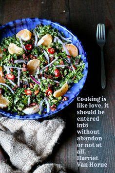 Mandarin Kale Salad with Ginger Sunshine Sauce - Naked Cuisine