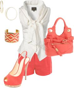 """""""Coral"""" by johnna-cameron on Polyvore"""
