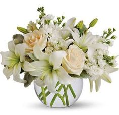 green and white flower arrangements - Google Search