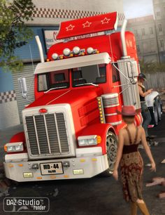 Big Bill Truck in Places and Things, Vehicles, Land,  3D Models by Daz 3D