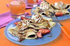 TOP recepty na sobotu: Hříšně dobré palačinky Sweet Life, Nutella, Pancakes, Favorite Recipes, Bread, Chocolate, Baking, Breakfast, Ethnic Recipes