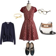 I'm a librarian and love cardigans and the preppy retro way to dress the part