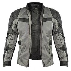 Xelement 'All Season' Men's Black/Grey Tri-Tex/Mesh Jacket Xelement & # All Season & # Herren, Schwarz / Grau, Tri-Tex / Mesh-Jacke Summer Motorcycle Jacket, Motorcycle Boots Outfit, Motorbike Jackets, Motorcycle Style, Motorcycle Fashion, Motorcycle Camping, Riding Jacket, Riding Gear, Mesh Jacket