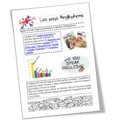 anglais--> fiches culturelles English Resources, English Lessons, Learn English, Cycle 3, English Vocabulary, Teaching English, Homeschool, Bullet Journal, Education