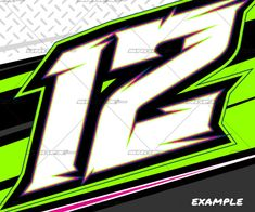 Flat Out Race Car Number Decals Lettering Racing