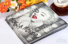 Paper Napkins Marilyn Monroe Printing 13INCH Wedding Party Birthday ...