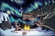 The Dovahkiin having tea with Paarthurnax. Dragon Tea by TomPreston on…