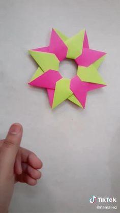 Instruções Origami, Origami And Kirigami, Fabric Origami, Origami Fish, Paper Crafts Origami, Cool Paper Crafts, Diy Crafts, Anime Crafts, Origami Tutorial