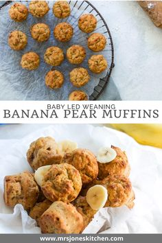 Pear Recipes, Muffin Recipes, Snack Recipes, Sugar Free Pancakes, Pear Muffins, Healthy Snacks, Healthy Recipes, Kids Meals, Toddlers