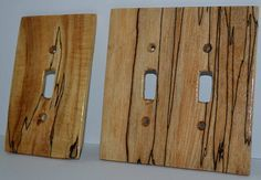 Spalted Maple Light Switch Receptacle Rocker Plate Covers