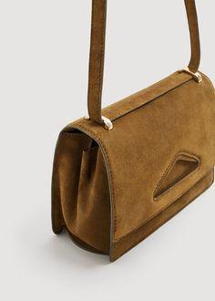 Σταυρωτή τσάντα δερμάτινη  | MANGO ΜΑΝΓΚΟ