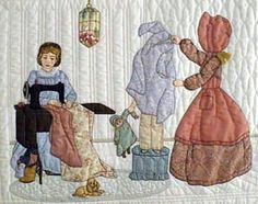 Grandmother's sewing room - Bonnet Girls - Helen R. Scott