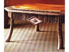 Rustic Show : Adirondack Rustic Tables - Adirondack Woodwright Adirondack Furniture . Twig Furniture, Adirondack Furniture, Cabin Furniture, Adirondack Chairs, Rustic Coffee Tables, Rustic Table, Cabin Porches, Lodge Decor, Rustic Interiors