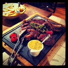 beef ribs steak with pepper sauce in chamonix - @transformbyjoe- #webstagram