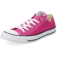 Converse Women's Chuck Taylor All Star Low Top Sneaker - Pink, Size... ($39) ❤ liked on Polyvore featuring shoes, sneakers, pink, laced up shoes, lacing sneakers, star sneakers, converse trainers and lace up shoes