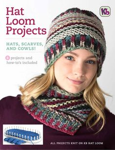 Hat Loom Projects eBook Get all your Knitting Looms & Knitting Patterns for your next Knitting Project at Authentic Knitting Board Loom Hats, Loom Knit Hat, Knitted Hats, Crochet Hats, Loom Crochet, Crochet Mandala, Crochet Afghans, Crochet Blankets, Easy Crochet
