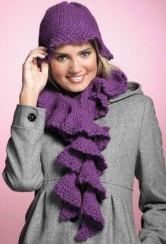 Hat & Scarf set by Drew Emborsky- The Crochet Dude.