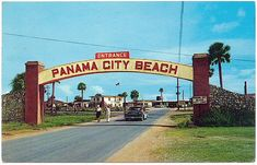 Entrance to Panama City Beach. 1950's Florida Postcard by stevesobczuk, via Flickr