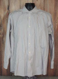 Tallia Mens Dress Shirt Size XL Long Sleeve Striped #Tallia
