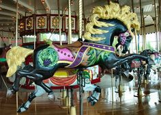 My favorite horse from the Jantzen Beach Carousel. I really hope they bring it back someday. Liam was too scared to ride on it when we were there! Carrousel, All The Pretty Horses, Beautiful Horses, Carosel Horse, Amusement Park Rides, Wooden Horse, Painted Pony, Merry Go Round, Horse Art