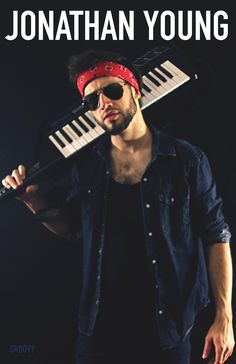 A signed 11x17 poster of Jonathan Young posing with his iconic keytar.  Please allow up to 2 weeks for shipping – If you do not receive your order by then, email jonathanyoungmerch@gmail.com