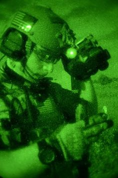 United States Air Force  ....... Lights out! Air Commandos from the 352nd Special Operations Group at RAF Mildenhall work under the cover of darkness with night-vision goggles and infrared lasers: https://www.flickr.com/photos/usairforce/sets/72157648713491687/ cc: Air Force Special Operations Command (Official Page)
