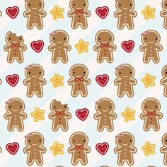 Cookie Cute fabric by marcelinesmith on Spoonflower - custom fabric