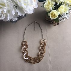 """Cheetah Print Loop Statement Necklace - Brown/Tan In great condition. 17"""" Jewelry Necklaces"""