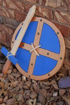 Handmade Wooden Shield & Sword Set