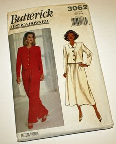 Vintage 1990s Sewing Pattern Butterick 3062 by Old2NewMemories