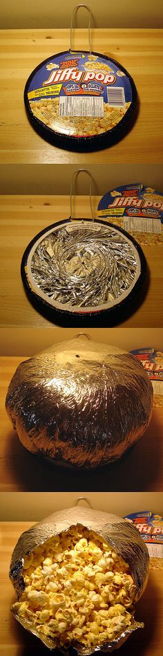 """Jiffy Pop ~ """"the magic treat as much fun to make as it is to eat! """"     :)"""