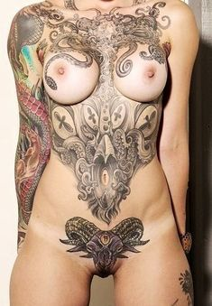 Full Frontal http://WomensTattooSite.net #womens tattoos #womens shoulder tattos #lower back tattoos #womens leg tattoo #womens leg tattoos #womens arm tattoo #womens arm tattoos #womens sleeve tattoo #womens sleeve tattoos #womens foot tattoo #womens foot tattoos