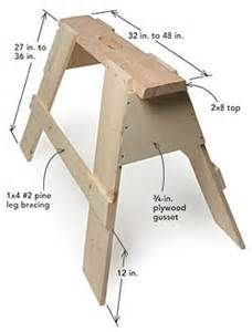 wood sawhorse plans stackable - Bing images