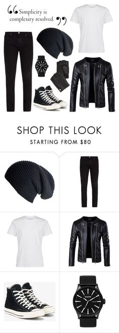 """""""Dark Shadows"""" by ascendedsnow ❤ liked on Polyvore featuring Black, Frame, La Perla, Converse, Nixon, PS Paul Smith, men's fashion and menswear"""