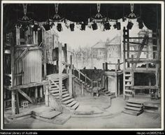Stage set for the J.C. Williamson production of Oliver! The Recpature [picture]