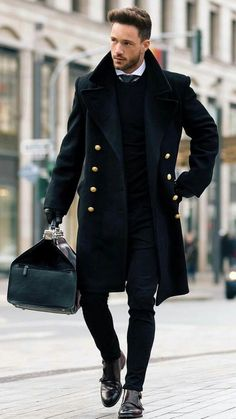 Men Winter Fashion 752664156459840387 - Fashion Man Fall Winter 2017 2018 Outfit Immaculate in Black # Man Source by Stylish Mens Outfits, Casual Outfits, Men Casual, Stylish Man, Casual Styles, Smart Casual, Mode Masculine, Masculine Style, Traje Casual