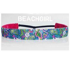 Shell Beach ~  Non Slip Adjustable Headband