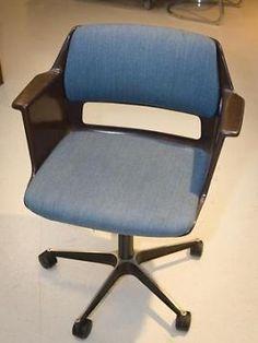Schitterende oude Gispen bureaustoel een ontwerp uit het