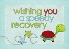 HM Speedy Recovery  designed by: Roxanne Buchholz  7x5 Invitation  Template ID: 68045