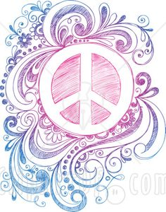 flower with peace sign tattoos - Google Search