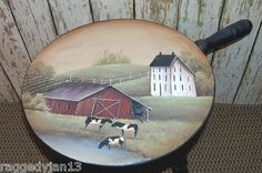 Amish Dairy Farm painted on Milking Stool