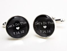 Items similar to Groom Cufflinks. Gift for Groom, Let's Do This Cufflinks, Personalized Cufflinks, Gift for Men on Etsy Wedding Men, Wedding Bridesmaids, Dream Wedding, Bride And Groom Gifts, Groom And Groomsmen, Groom Cufflinks, Wedding Cufflinks, Wedding Badges, Cute Presents