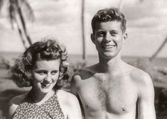 The History Place - John F. Kennedy Photo History: The Early Years: Palm Beach with Kathleen.