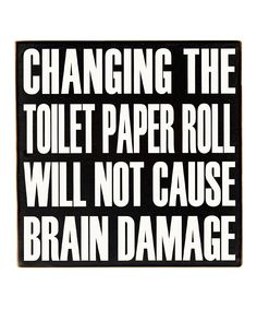 Changing the Toilet Paper Quote Bathroom Wall Art #loveit #cUte #want